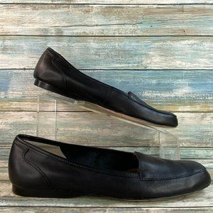 Array Freedom Black Soft Leather Slip On Loafers